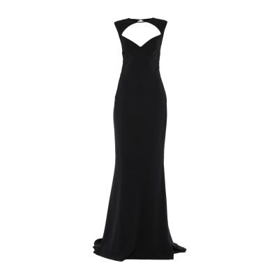 ディースクエアード DSQUARED2 ロングワンピース&ドレス ブラック 38 レーヨン 95% / ポリウレタン 5% ロングワンピース&ドレス