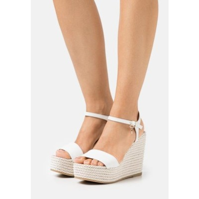 レディース 靴 シューズ GRACE - Platform sandals - white