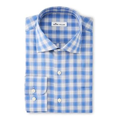 ピーター・ミラー メンズ シャツ トップス Men's Crown Ease Melange Plaid Dress Shirt