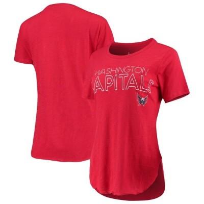 アリッサミラノ Tシャツ トップス レディース Washington Capitals Touch by Alyssa Milano Women's Free Throw T-Shirt Red