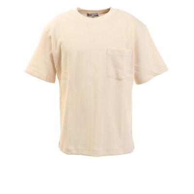 Tシャツ メンズ ワッフル半袖 871PA0ES3111OWHT