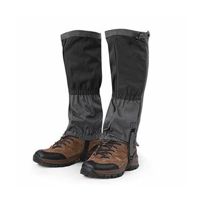 防水雪上歩行靴のカバー、登山スパッツ スノーレッグの刻印 アウトドア 防水 スポーツブーツメンズ ロング