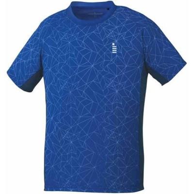 ゴーセン ユニセックス ゲームシャツ(ロイヤルブルー・140cm) GOSEN テニス・バドミントン用シャツ GOS-T1904-15-140 返品種別A