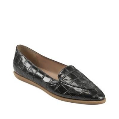 エアロソールズ レディース サンダル シューズ Women's Val Casual Flat Sandal Black Croco
