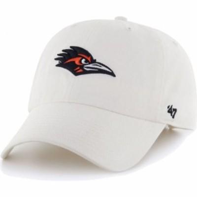 フォーティセブン 47 メンズ キャップ 帽子 UT San Antonio Roadrunners Clean Up Adjustable White Hat