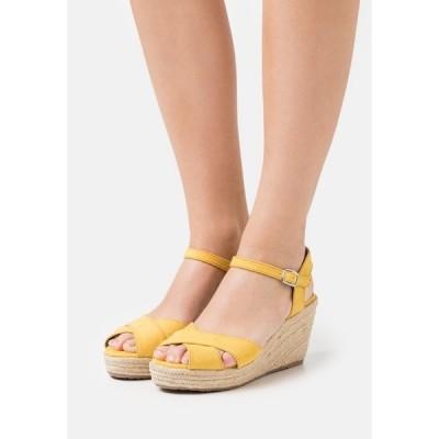 トムテイラー サンダル レディース シューズ High heeled sandals - yellow