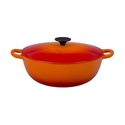 Le Creuset Enameled Cast Iron 4.5 quart Soup Pot, Flame【並行輸入品】