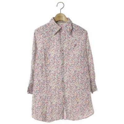 シャツ ブラウス 花柄7分袖シャツ