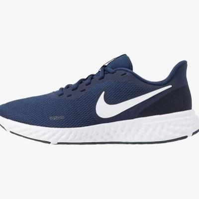 ナイキ メンズ スポーツ用品 REVOLUTION 5 - Neutral running shoes - midnight navy/white/dark obsidian