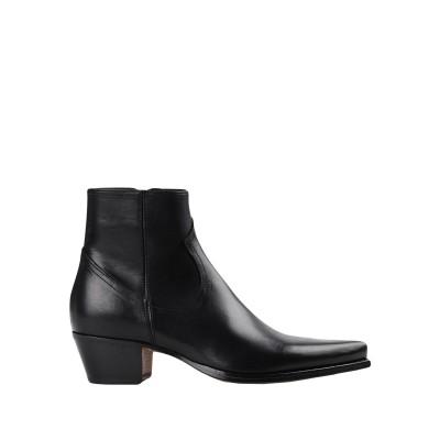 ALESSANDRO VASINI ショートブーツ ブラック 43 柔らかめの牛革 100% ショートブーツ