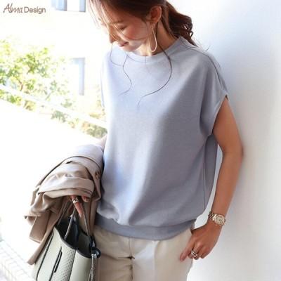 【大人可愛いアイテム♪】8colors M-L フレンチスリーブ半袖Tシャツニットソー トップス シンプル ガーリー カジュアル M L