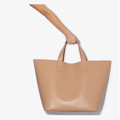スタジオ アメリア Studio Amelia レディース トートバッグ バッグ Nude large leather tote bag neutrals