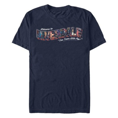 フィフスサン Tシャツ トップス メンズ Men's Riverdale Welcome Short Sleeve T-shirt Navy