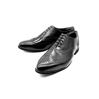 [KOBE STRONG MEN] 神戸ストロングメン ビジネスシューズ 本革 レザー 日本製 ウイングチップ メンズ 革靴 4EEEE 甲高 幅広