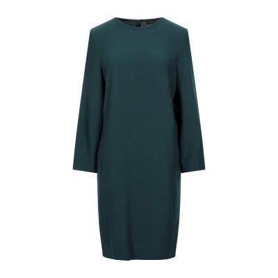 ANTONELLI ミニワンピース&ドレス ダークグリーン 42 バージンウール 100% ミニワンピース&ドレス