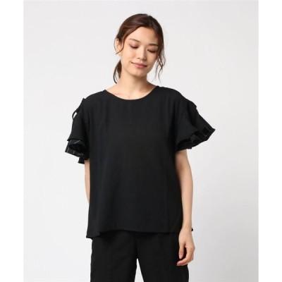 tシャツ Tシャツ 【LA COMFY / ラ・コンフィー】 2段フリル袖ブラウス