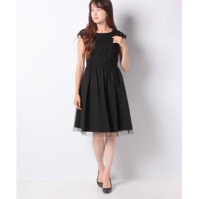 MISS J/ミス ジェイ レース×タフタ ドレス ブラックA 38