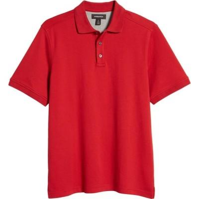 ノードストローム NORDSTROM メンズ ポロシャツ トップス Regular Fit Interlock Polo Red Scooter