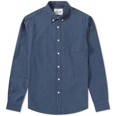 ポーチュギースフランネル Portuguese Flannel メンズ シャツ トップス Button Down Belavista Oxford Shirt Navy