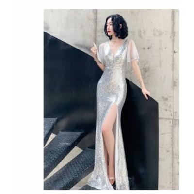 ウエディングドレス ロングドレス 演奏会 パーティードレス 結婚式 発表会 大きいサイズ セクシー フォーマル マーメイドドレス 披露宴