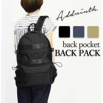 【送料無料】addninth バックパック 背ポケ付リュック ユニセックス 3カラー 44×28×15 ys190554