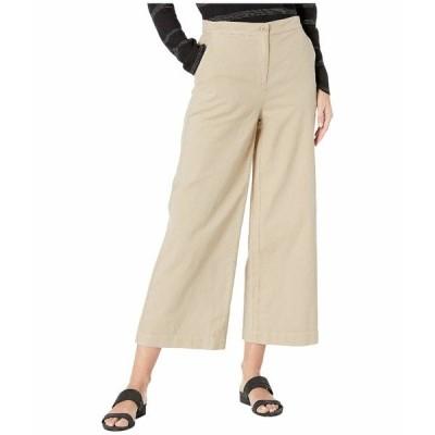 エイリーンフィッシャー カジュアルパンツ ボトムス レディース Organic Cotton Hemp Stretch Wide Leg Ankle Pants Khaki