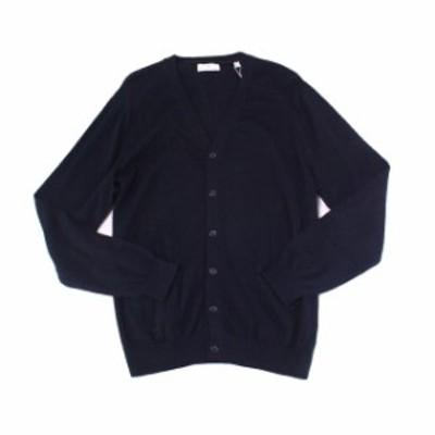 Pocket  ファッション トップス Toscano Firenze NEW Blue Navy Mens Size XL Pocket Cardigan Sweater
