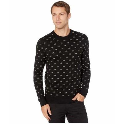 カルバンクライン ニット、セーター アウター メンズ CK Logo Pattern Jacquard Black