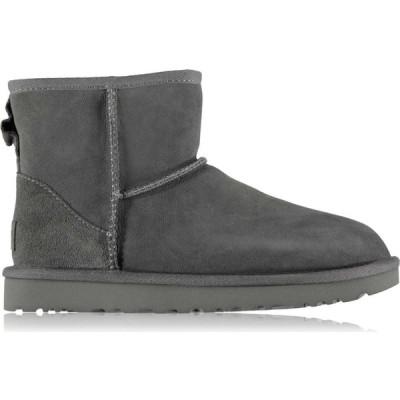 アグ Ugg レディース ブーツ シューズ・靴 Classic Mini Boots Grey
