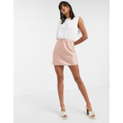エイソス レディース スカート ボトムス ASOS DESIGN mini satin slip skirt in rose Rose