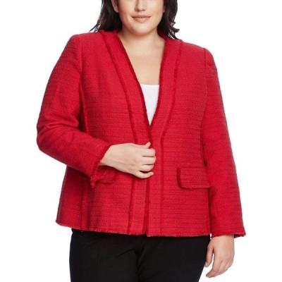 ヴィンス カムート Vince Camuto レディース ジャケット 大きいサイズ アウター Plus Size Cotton Tweed Kiss-Front Jacket Rhubarb