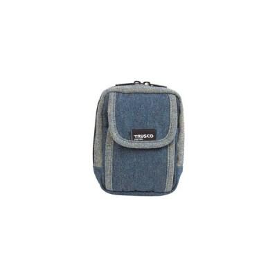 トラスコ中山 TRUSCO デニム携帯電話用ケース 2ポケット ブルー TDC−H101