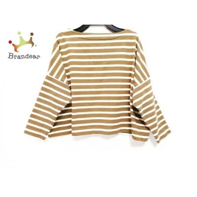 トラディショナルウェザーウェア 長袖Tシャツ サイズS レディース - 白×ブラウン 新着 20200828