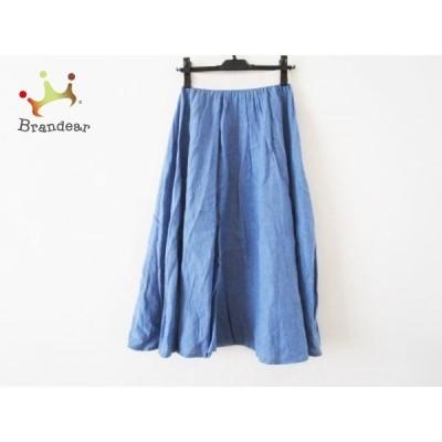 オニール O'NEIL ロングスカート サイズ40(I) M レディース ブルー×アイボリー 新着 20201206