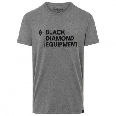 ブラックダイヤモンド Stacked ロゴ Tシャツ(Charcoal Heather)