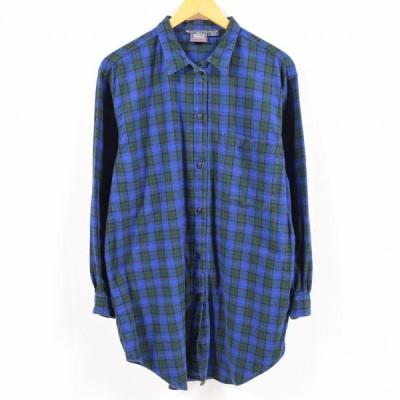 80年代 ウールリッチ ライトネルシャツ メンズM /wbc2188