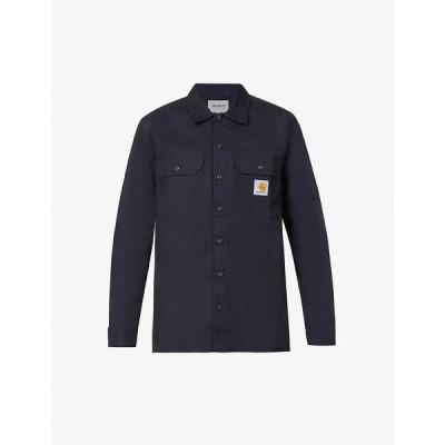 カーハート CARHARTT WIP メンズ シャツ トップス Master brand-patch woven shirt DARK NAVY