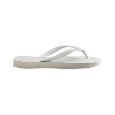 ハワイアナス HAVAIANAS レディース ビーチサンダル シューズ・靴 Top rubber flip-flops WHITE