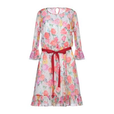 ブルマリン BLUMARINE ミニワンピース&ドレス ホワイト 40 シルク 53% / ナイロン 47% ミニワンピース&ドレス
