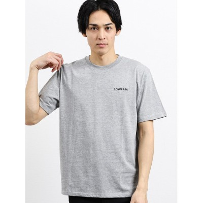 【タカキュー】 コンバース/CONVERSE ワンポイント刺繍半袖Tシャツ メンズ グレー LL(XL) TAKA-Q