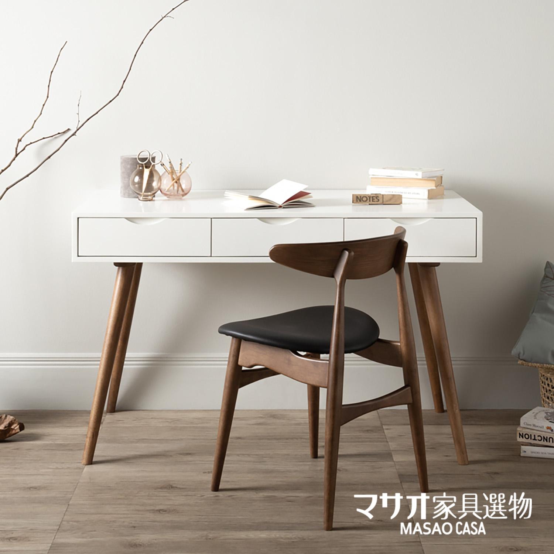 *布蘭柯三抽書桌-白色