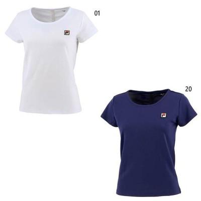 フィラ レディース ゲームシャツ テニス バドミントンウェア トップス 半袖 吸水速乾 UVカット ストレッチ 接触冷感 VL2404