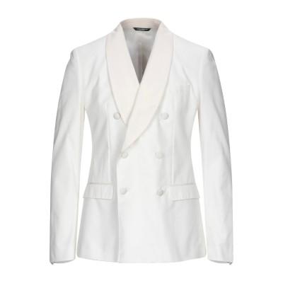 ドルチェ & ガッバーナ DOLCE & GABBANA テーラードジャケット ホワイト 48 コットン 100% テーラードジャケット