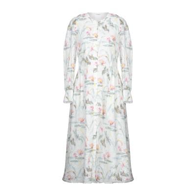 VILSHENKO 7分丈ワンピース・ドレス ホワイト 16 コットン 95% / ポリエステル 5% 7分丈ワンピース・ドレス