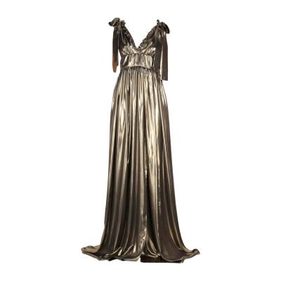 ALCOOLIQUE ロングワンピース&ドレス ブロンズ 44 ポリエステル 100% ロングワンピース&ドレス