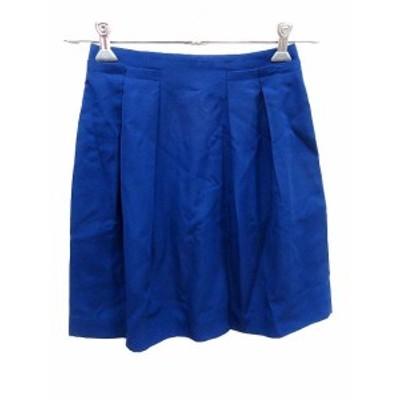 【中古】ボールジー BALLSEY トゥモローランド スカート フレア ミニ 34 青 ブルー /YI レディース