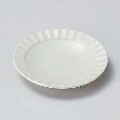 白伊賀しのぎ4.0皿 14cm 和食器 フルーツ皿・銘々皿・取皿 業務用
