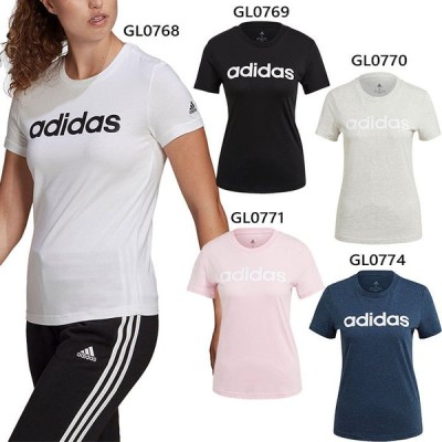 アディダス レディース W ESS LIN Tシャツ 半袖 トップス ロゴ カジュアル スポーティ シンプル 綿 コットン 28869