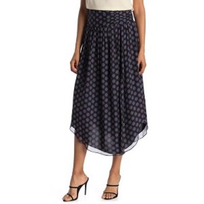 レイミー ブルック レディース スカート ボトムス Printed Layla Silk Skirt NAVY COMBO