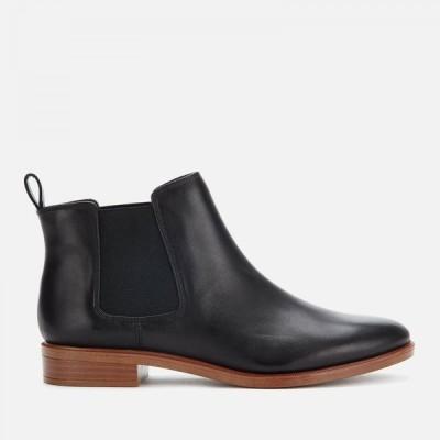 クラークス Clarks レディース ブーツ チェルシーブーツ シューズ・靴 Taylor Shine Leather Chelsea Boots Black